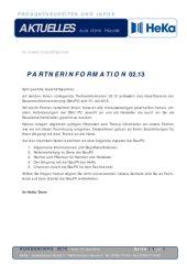 Partnerinformation 02.13